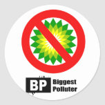 BP = BIGGEST POLLUTER STICKERS