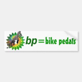 bp = bike petals bumper sticker
