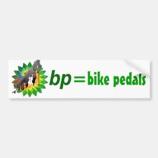 bp = bike petals car bumper sticker