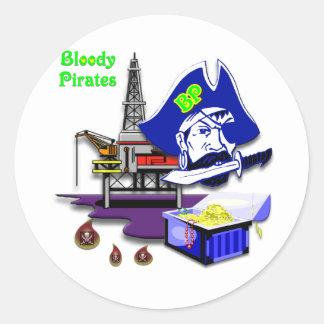 BP -- Bloody Pirates Round Sticker