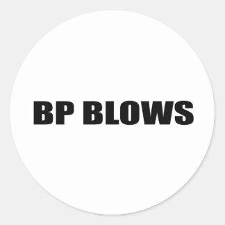 BP BLOWS CLASSIC ROUND STICKER