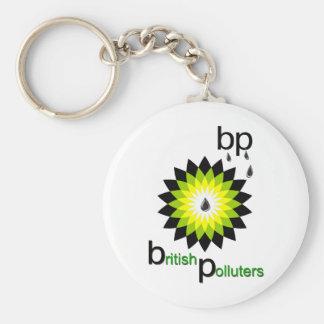 BP: British Polluters Basic Round Button Keychain