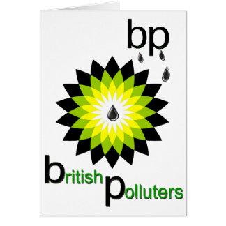 BP: British Polluters Card