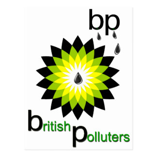 BP: British Polluters Postcard