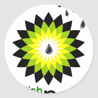 BP: British Polluters Round Stickers