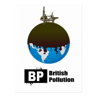 BP = BRITISH POLLUTION POSTCARD