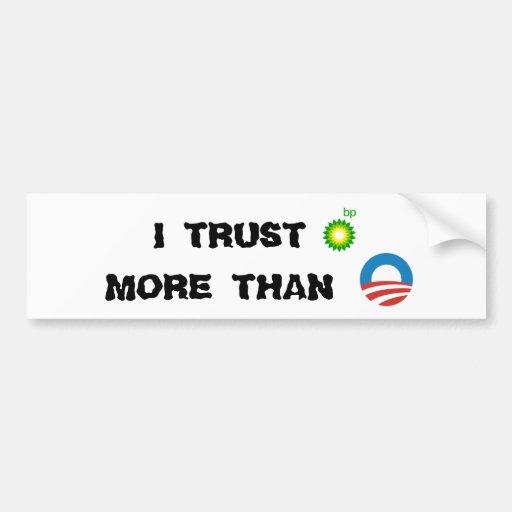 BP contra el pegatina de Obama Etiqueta De Parachoque