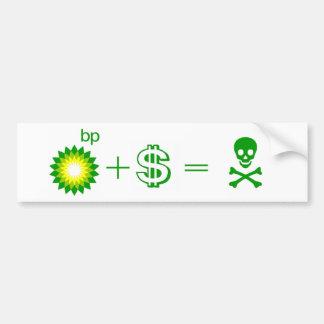 BP Corruption Car Bumper Sticker