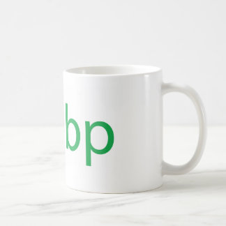 bp cup classic white coffee mug