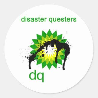 BP engrasa questers del desastre Pegatina Redonda