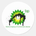 BP estamos trayendo el aceite a las orillas Etiquetas Redondas