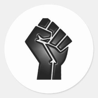 bp fist classic round sticker