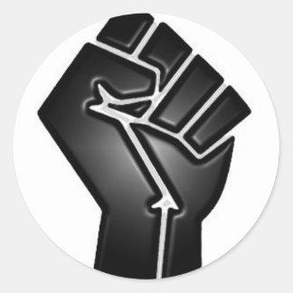 bp fist round sticker