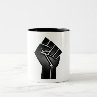 bp fist Two-Tone coffee mug