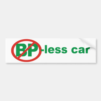 BP Free Car Car Bumper Sticker