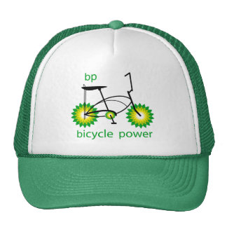 BP monta en bicicleta el gorra de los camioneros d