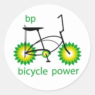 BP monta en bicicleta el sistema del pegatina del