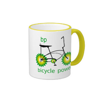 BP monta en bicicleta la taza de café del poder