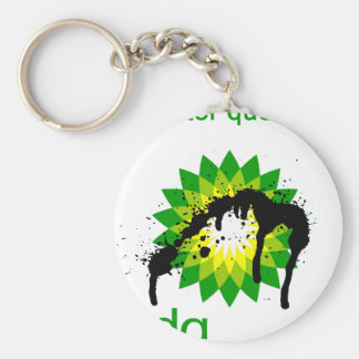 BP oil disaster questers Basic Round Button Keychain