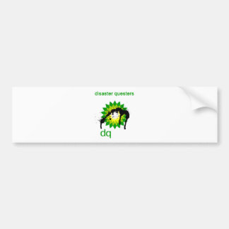 BP oil disaster questers Car Bumper Sticker
