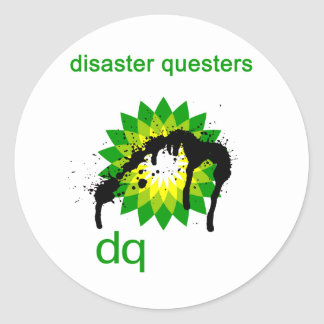 BP oil disaster questers Classic Round Sticker