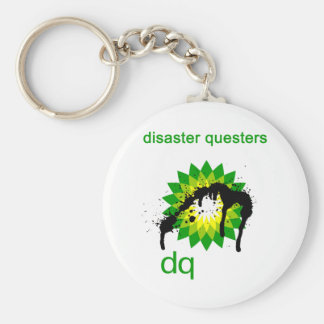 BP oil disaster questers Keychain