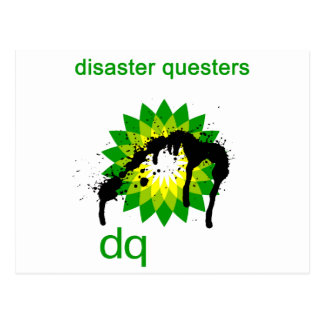 BP oil disaster questers Postcard