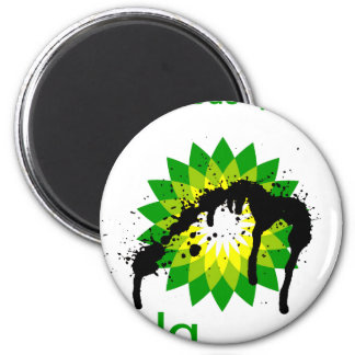 BP oil disaster upside down 2 Inch Round Magnet