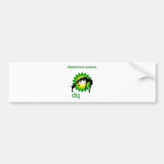 BP oil disaster upside down Bumper Sticker