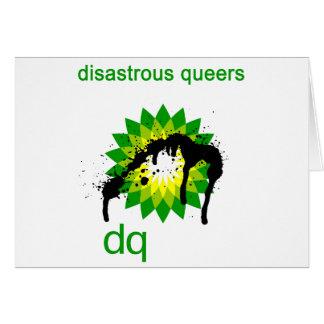 BP oil disaster upside down Greeting Card