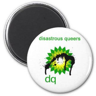 BP oil disaster upside down Magnet