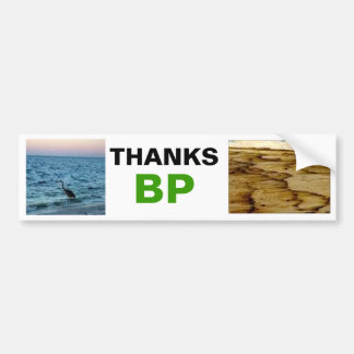 BP OIL SPILL BEFORE AND AFTER BUMPER STICKER CAR BUMPER STICKER
