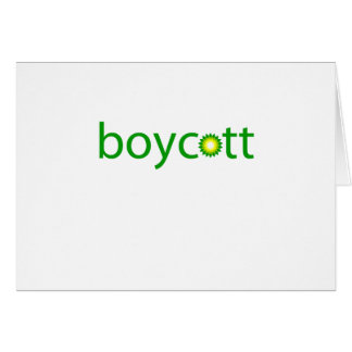 BP Oil Spill Boycott Card
