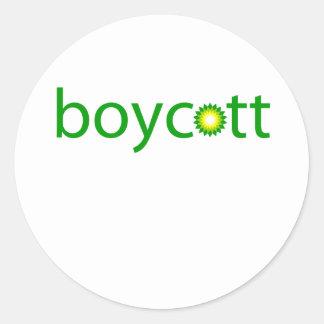 BP Oil Spill Boycott Round Sticker