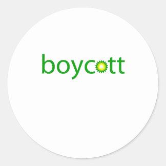 BP Oil Spill Boycott Round Stickers