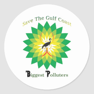 BP Oil Spill Classic Round Sticker