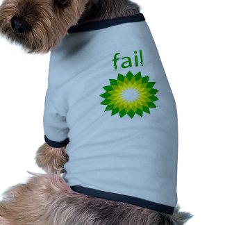 BP Oil Spill Fail Logo Dog Tshirt