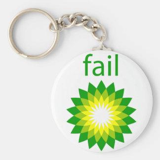 BP Oil Spill Fail Logo Keychain