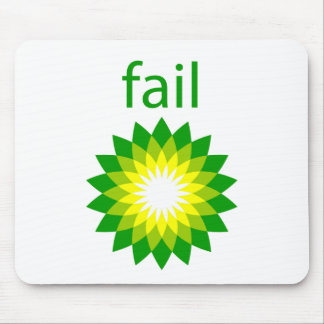 BP Oil Spill Fail Logo Mouse Pad