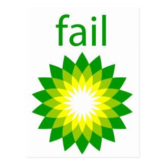 BP Oil Spill Fail Logo Post Card