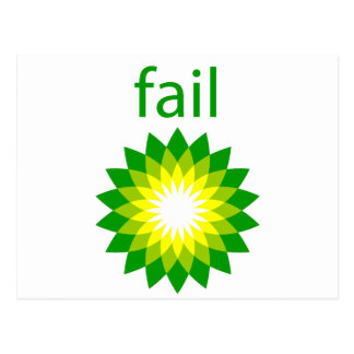 BP Oil Spill Fail Logo Postcard