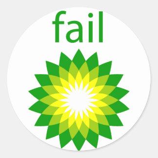 BP Oil Spill Fail Logo Stickers