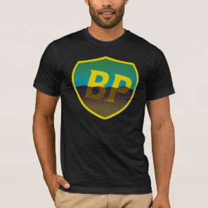 BP Oil Spill Retro Shield T-Shirt