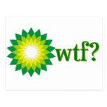BP OIL SPILL WTF POSTCARD