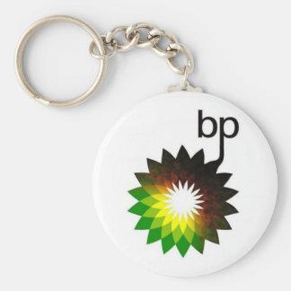 BP que se escapa el logotipo Llavero Redondo Tipo Pin