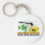 BP Save Our Oceans Basic Round Button Keychain