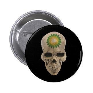 BP Skull Pinback Button