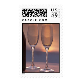 bp two glases postage stamp