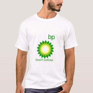 BP vara la camisa de las señoras del contaminador