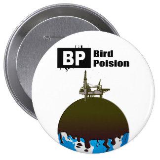 BP = VENENO DEL PÁJARO PIN REDONDO DE 4 PULGADAS